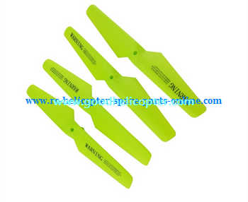 SYMA-X5-X5A-X5C Quad Copter parts blades (forward + reverse) [Green]