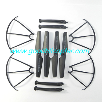 SYMA-X5S-X5SC-X5SW Quad Copter parts Main blades + protection cover + undercarriage (black color)
