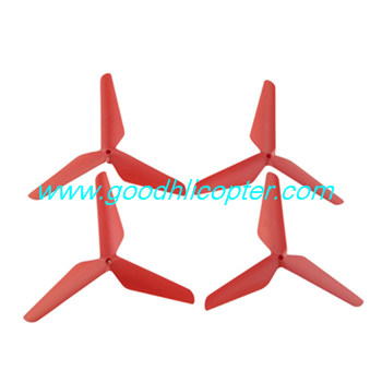 SYMA-X5S-X5SC-X5SW Quad Copter parts 3 leaves blades (red color)