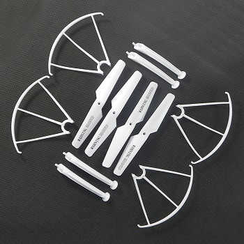 SYMA-X5S-X5SC-X5SW Quad Copter parts Main blades + protection cover + undercarriage (white color)