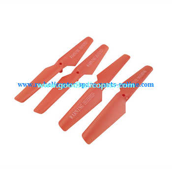 SYMA-X5S-X5SC-X5SW Quad Copter parts Main Blades propellers (red color)