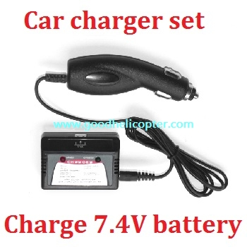Car charger set charge the 7.4V battery of your RC helicopter