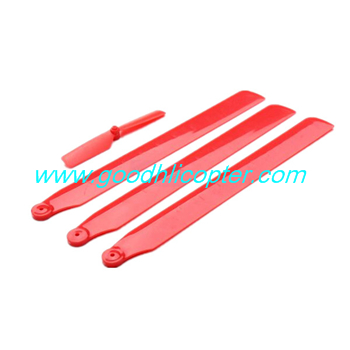 wltoys-v931-AS350-XK-K123 helicopter parts Main blades + Tail blade (red color)