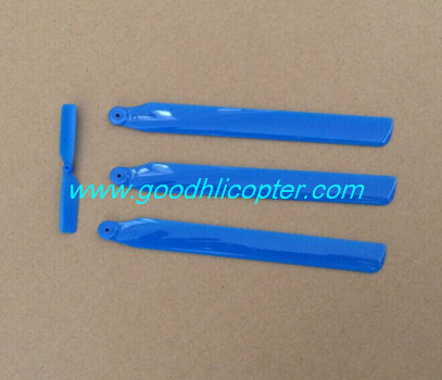 wltoys-v931-AS350-XK-K123 helicopter parts Main blades + Tail blade (blue color)