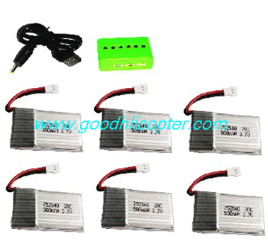 wltoys-v931-AS350-XK-K123 helicopter parts 1 to 6 Charger box + USB Charger + 6pcs battery 3.7V 500mah