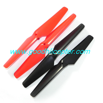 Wltoys Q212 Q212G Q212GN Q212K Q212KN quadcopter parts blades (2pcs red + 2pcs black)