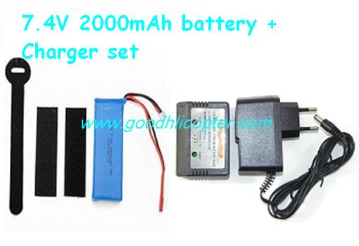 Wltoys Q212 Q212G Q212GN Q212K Q212KN quadcopter parts 7.4V 2000mah battery + Charger + Balance charger box