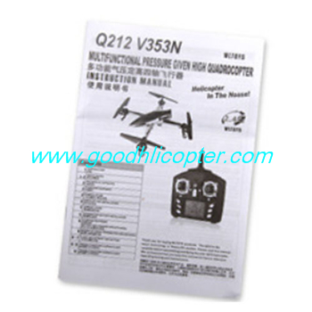 Wltoys Q212 Q212G Q212GN Q212K Q212KN quadcopter parts Instruction sheet