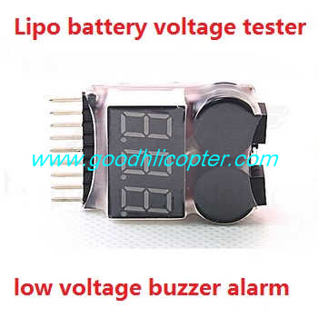 Wltoys Q303 Q303A Q303B Q303C quadcopter parts Lipo battery voltage tester low voltage buzzer alarm (1-8s)