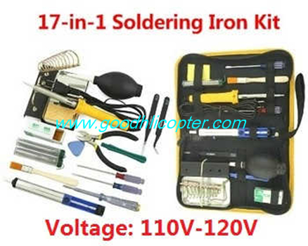 Wltoys Q303 Q303A Q303B Q303C quadcopter parts 17-In-1 Voltage 110-120V 60W soldering iron set