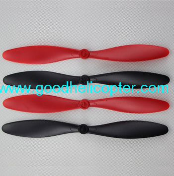 Wltoys V303 SEEKER Zreo Tech V303 Drone quadcopter parts blades (2pcs red + 2pcs black)