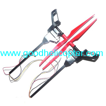 Wltoys V323 Skywalker UFO parts Side bar + Motor set (Forward + Reverse) + Blades (Red color)