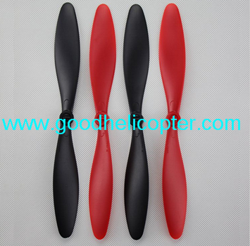 Wltoys V393 2.4H 4CH Brushless motor Quadcopter parts Blades (2pcs red + 2pcs black)