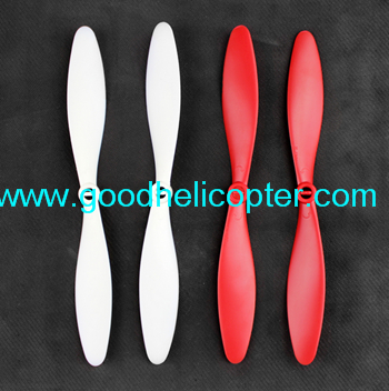Wltoys V393 2.4H 4CH Brushless motor Quadcopter parts Blades (2pcs red + white black)