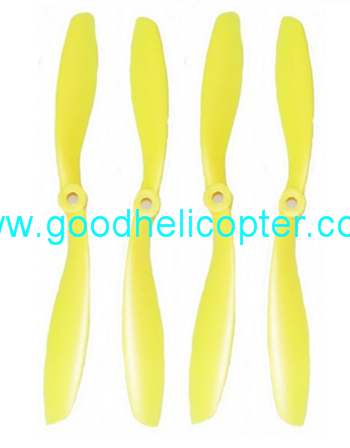 Wltoys V393 2.4H 4CH Brushless motor Quadcopter parts Blades (4pcs yellow)