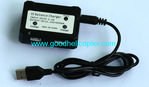 Wltoys V393 2.4H 4CH Brushless motor Quadcopter parts 1 to 2 balance charger + USB charger wire