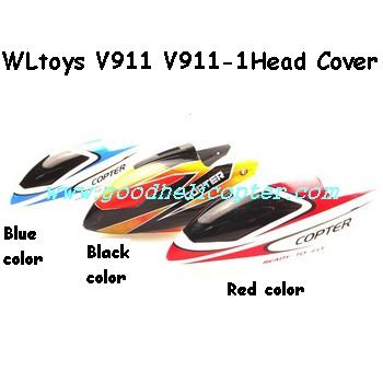 wltoys-v911-v911-1 helicopter parts Head Cover (Red color)