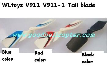 wltoys-v911-v911-1 helicopter parts tail blade (black color)
