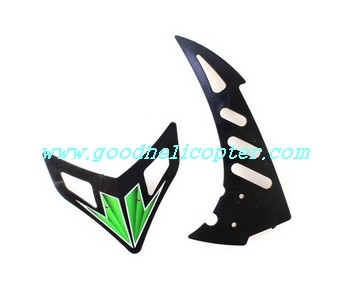 wltoys-v912 helicopter parts tail decoration set (green color)