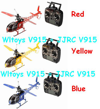 Wltoys JJRC WL V915 Seeker 2.4Ghz 4CH RTF Lama RC Helicopter High Simulation (Blue color)